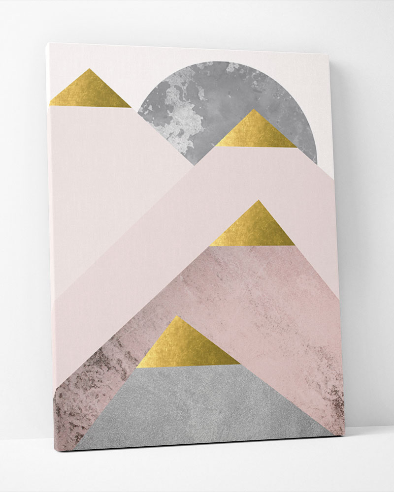 Placa Decorativa Montanhas Rosé II