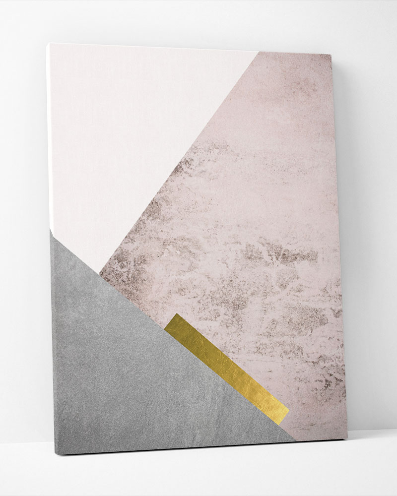 Placa Decorativa  Montanhas Rosé III