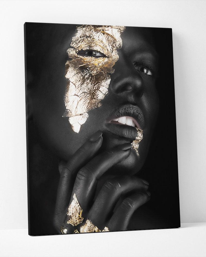 Placa Decorativa Mulher Dourada