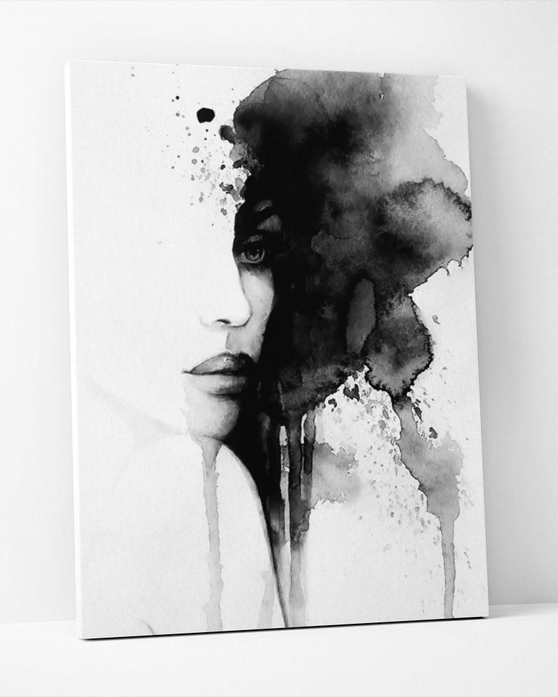Placa Decorativa Mulher Misteriosa