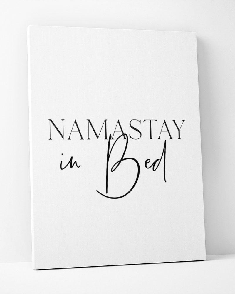 Placa Decorativa Namastay In Bed