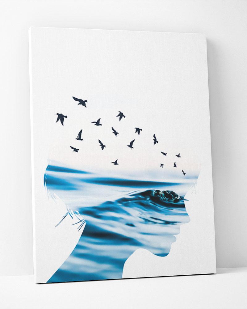 Placa Decorativa Oceans Azul