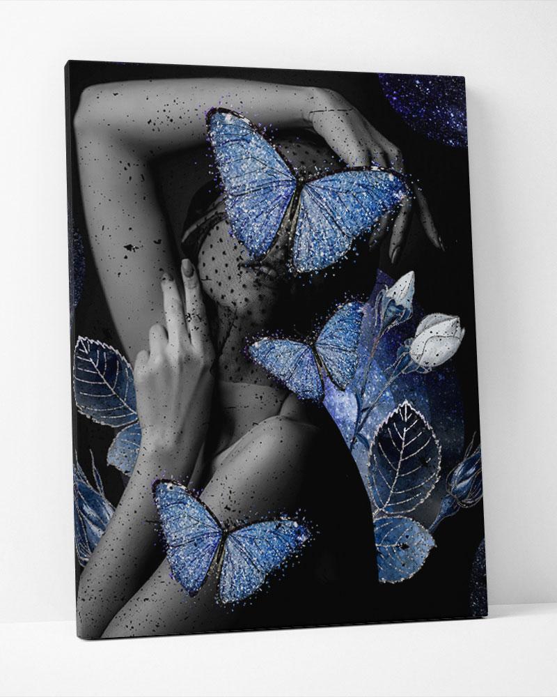 Placa Decorativa Olhar De Borboleta-Collage