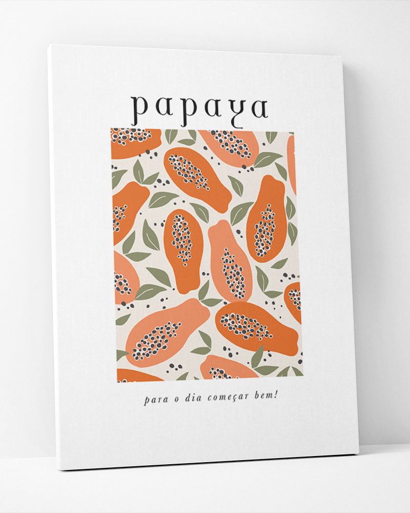 Placa Decorativa Papaya