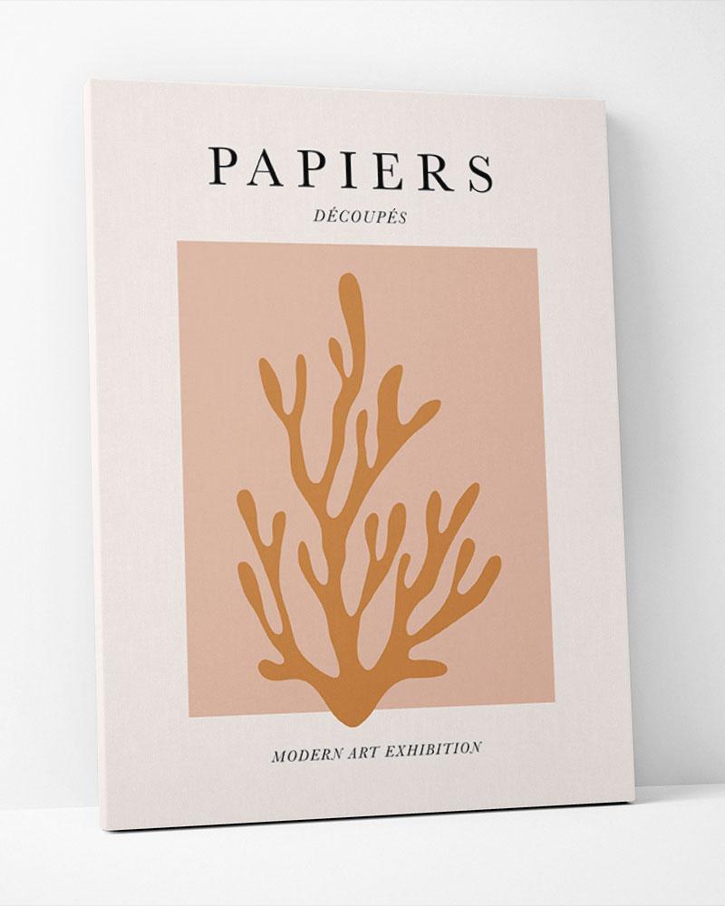 Placa Decorativa Papiers Decoupes