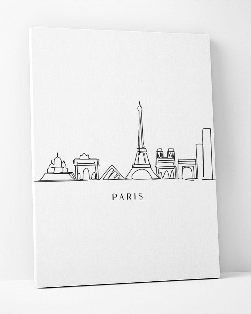 Placa Decorativa Paris Line