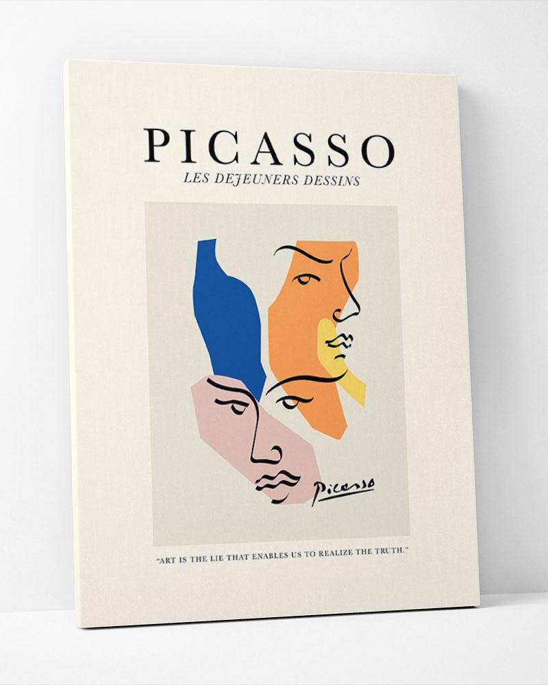 Placa Decorativa Picasso Dejeuners