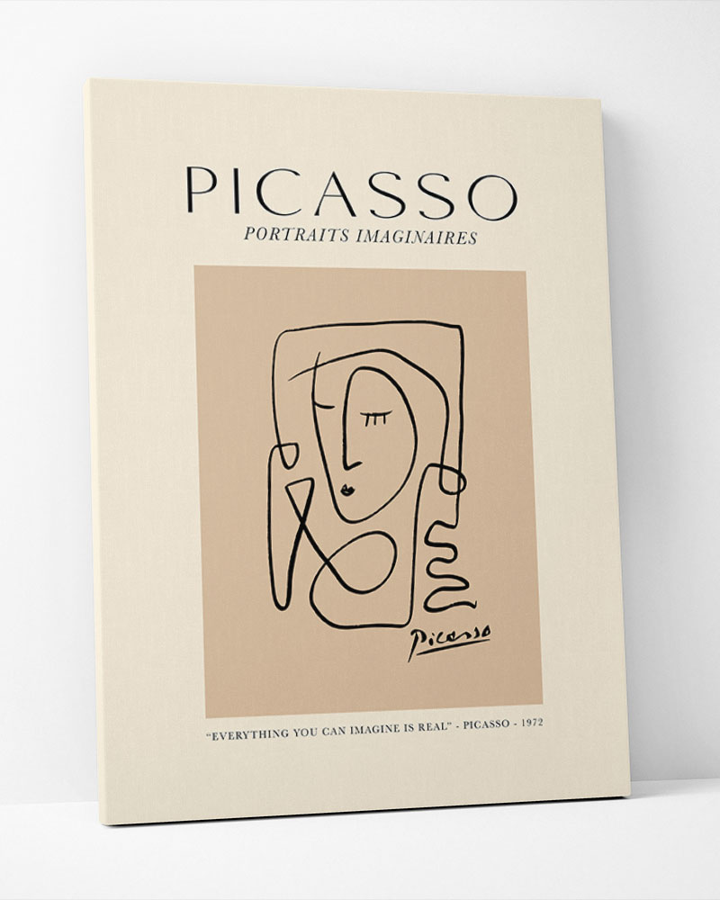 Placa Decorativa Picasso Portraits