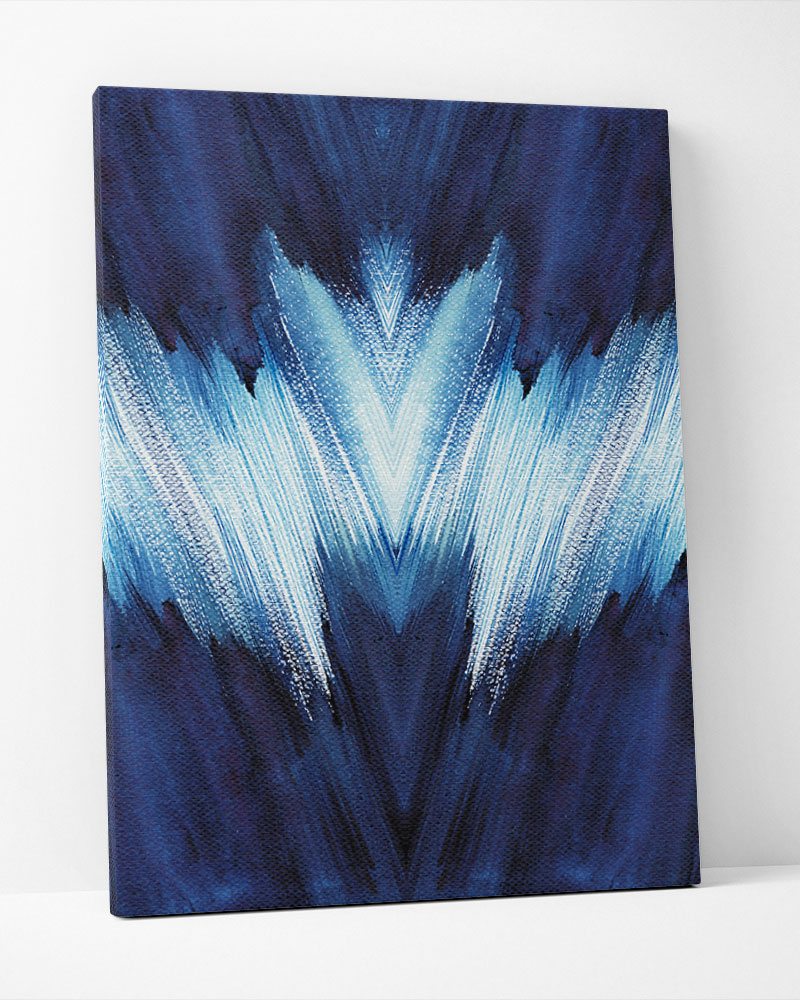 Placa Decorativa Pincelada Azul