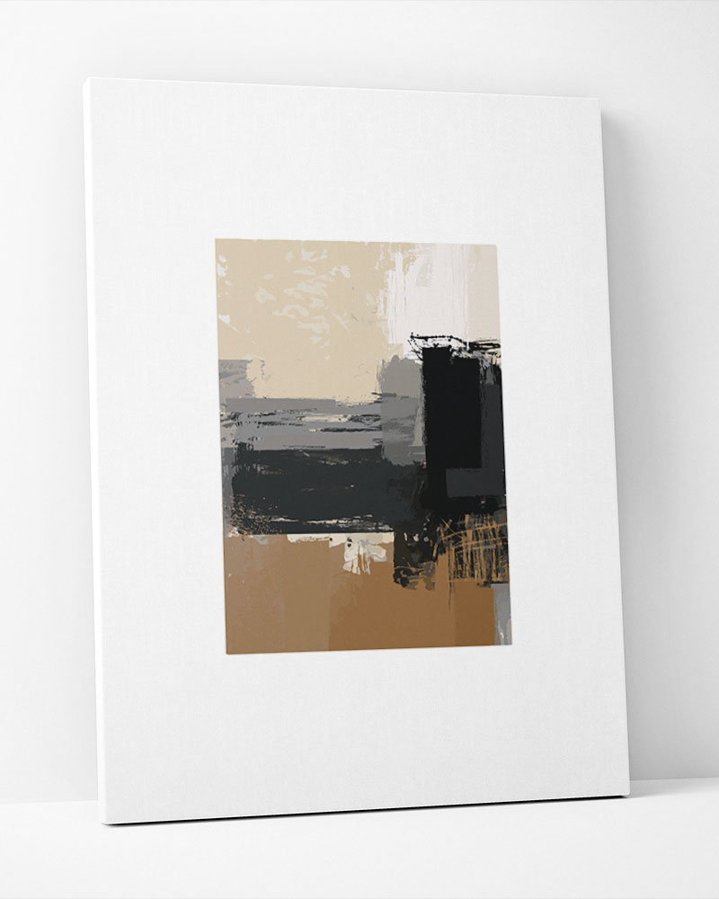 Placa Decorativa Pintura Abstrata