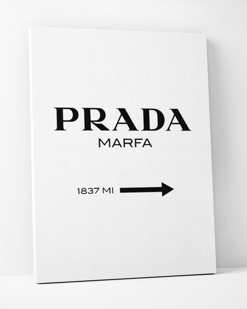 Placa Decorativa Prada Marfa-Vertical