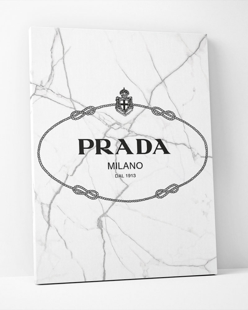 Placa Decorativa Prada Vintage