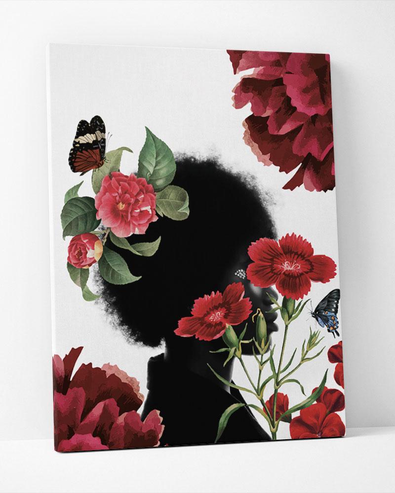 Placa Decorativa  Red Garden-Collage