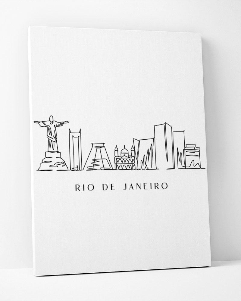 Placa Decorativa Rio De Janeiro Line