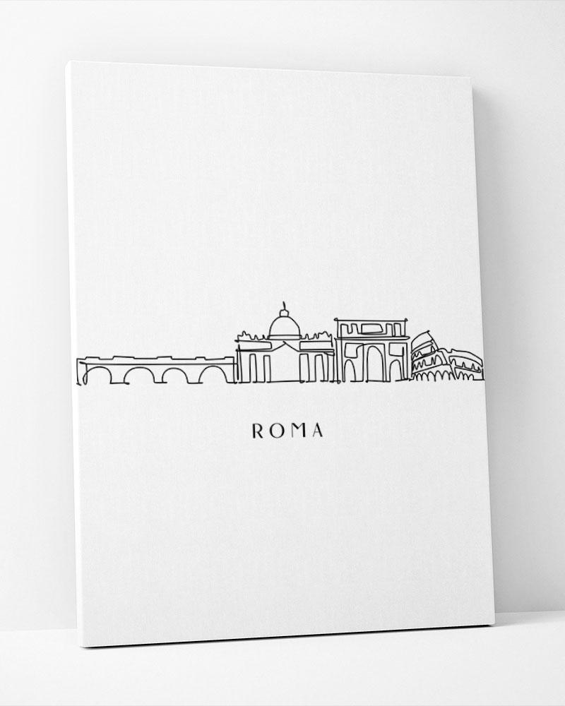 Placa Decorativa Roma Line