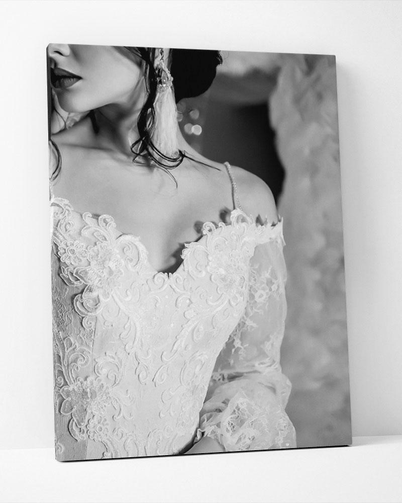 Placa Decorativa Silver Dress