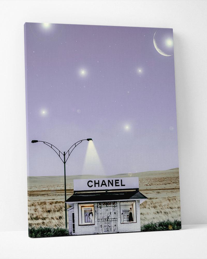 Placa Decorativa Star Chanel