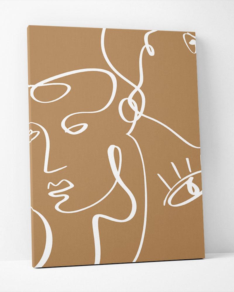 Placa Decorativa Terracota Faces