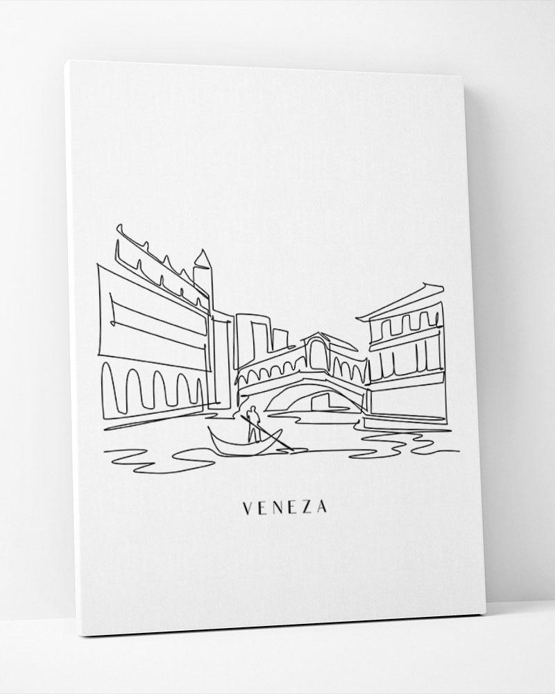 Placa Decorativa Veneza Line