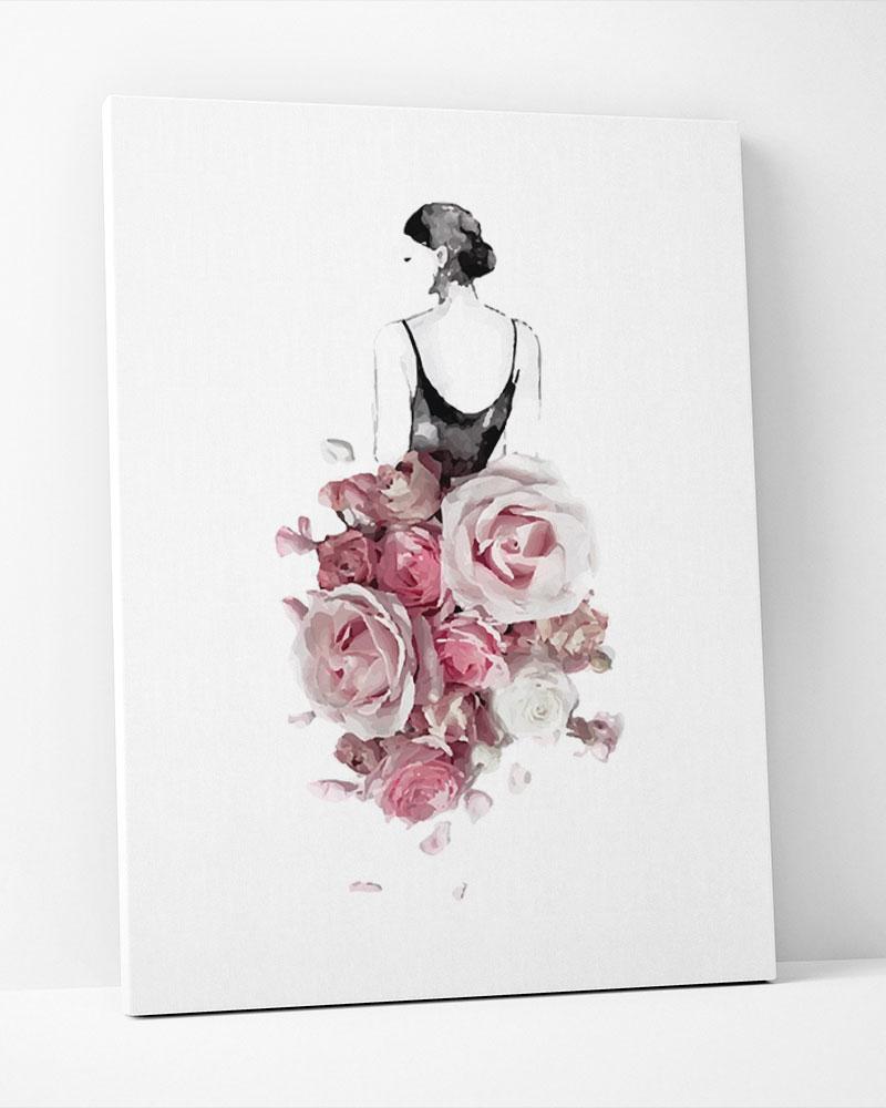 Placa Decorativa Vestida De Flores