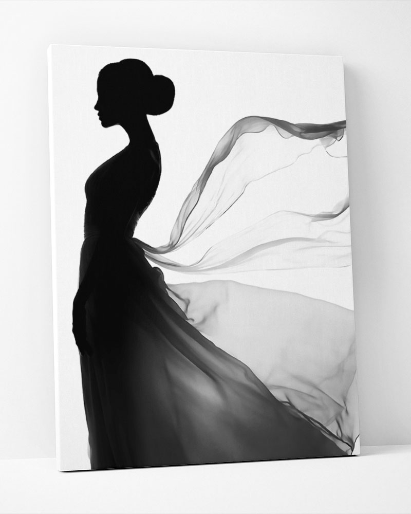 Placa Decorativa Vestido Esvoaçante