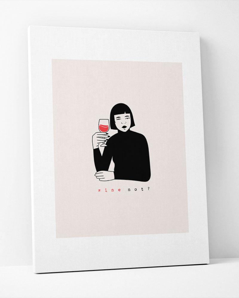 Placa Decorativa Wine Note?