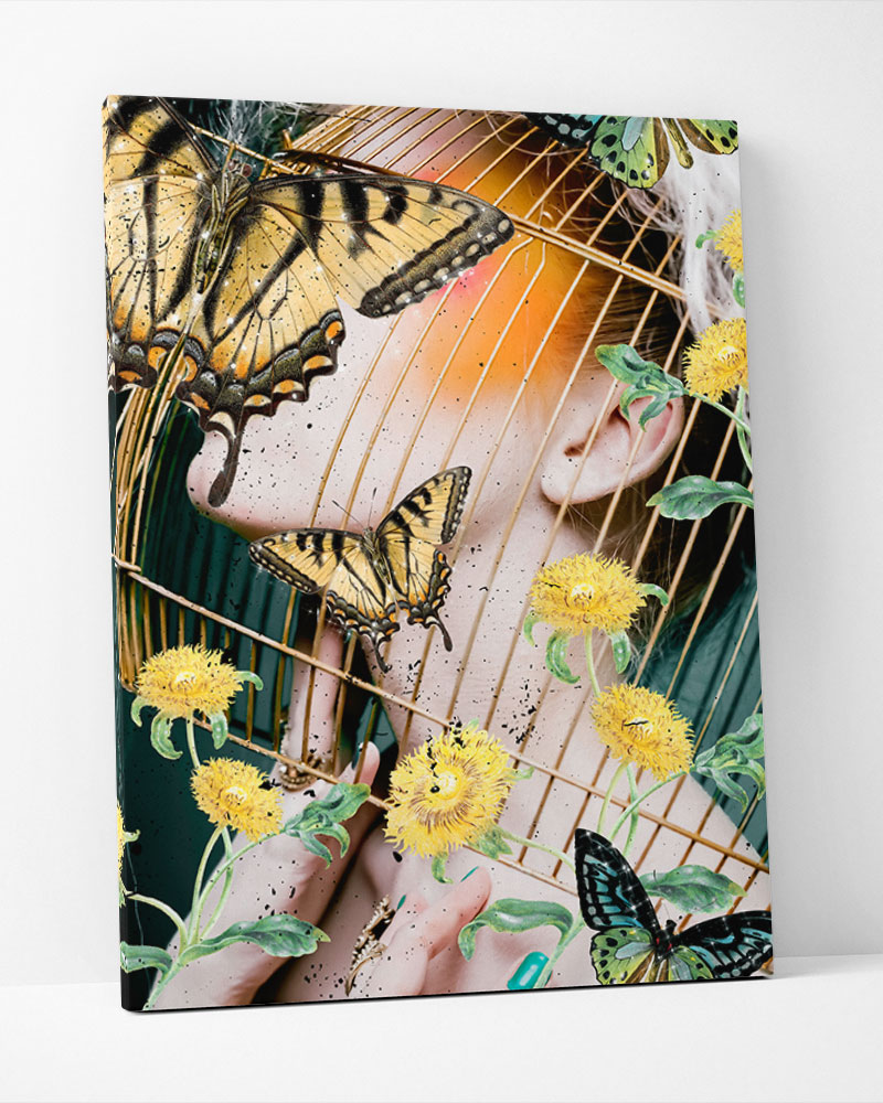 Placa Decorativa Yellow Garden-Collage