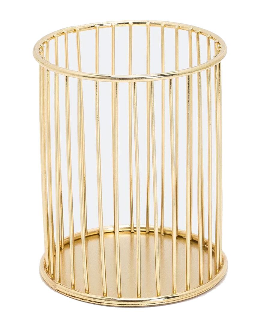 Porta Canetas Dourado