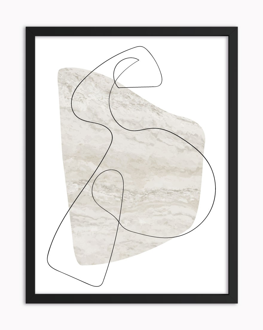Quadro Abstract Beige Lines