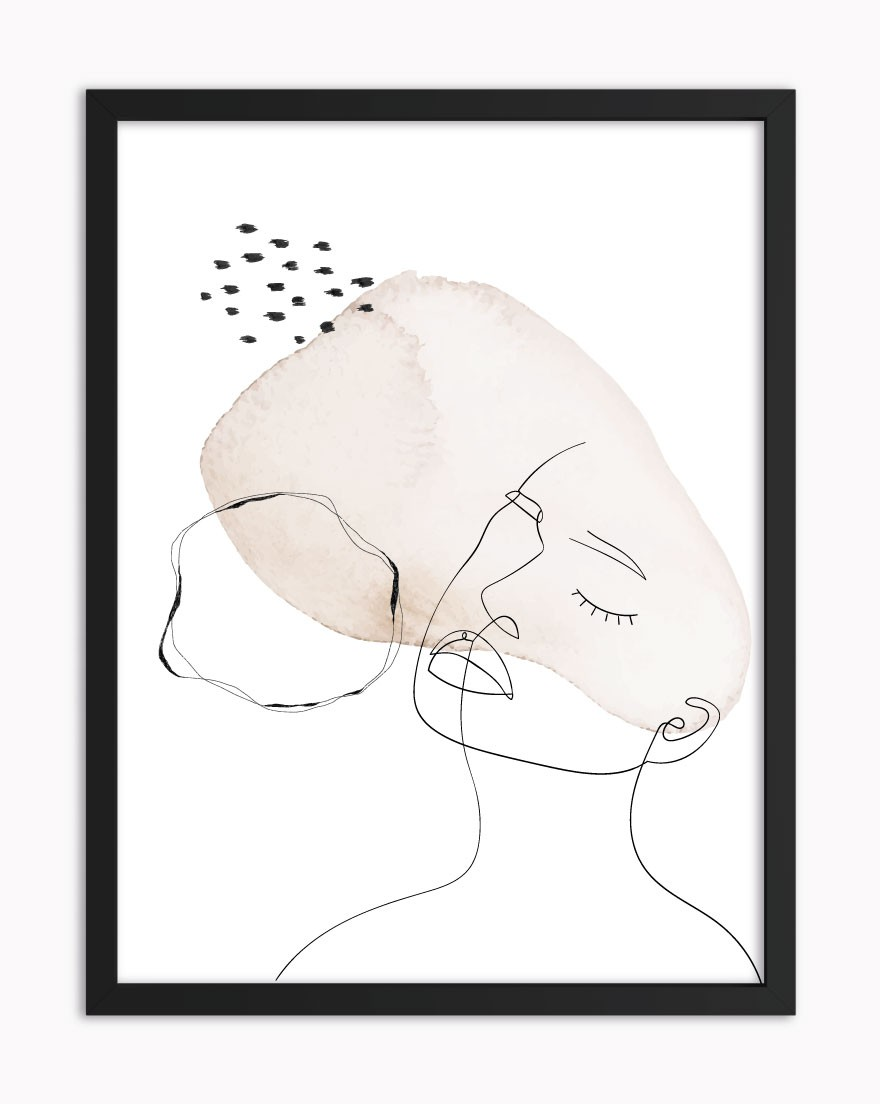 Quadro Abstract Beige Woman