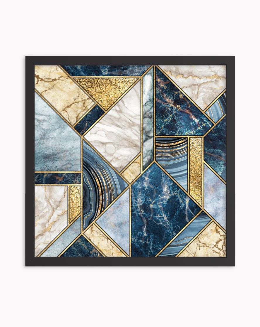 Quadro Abstract Marble Blue