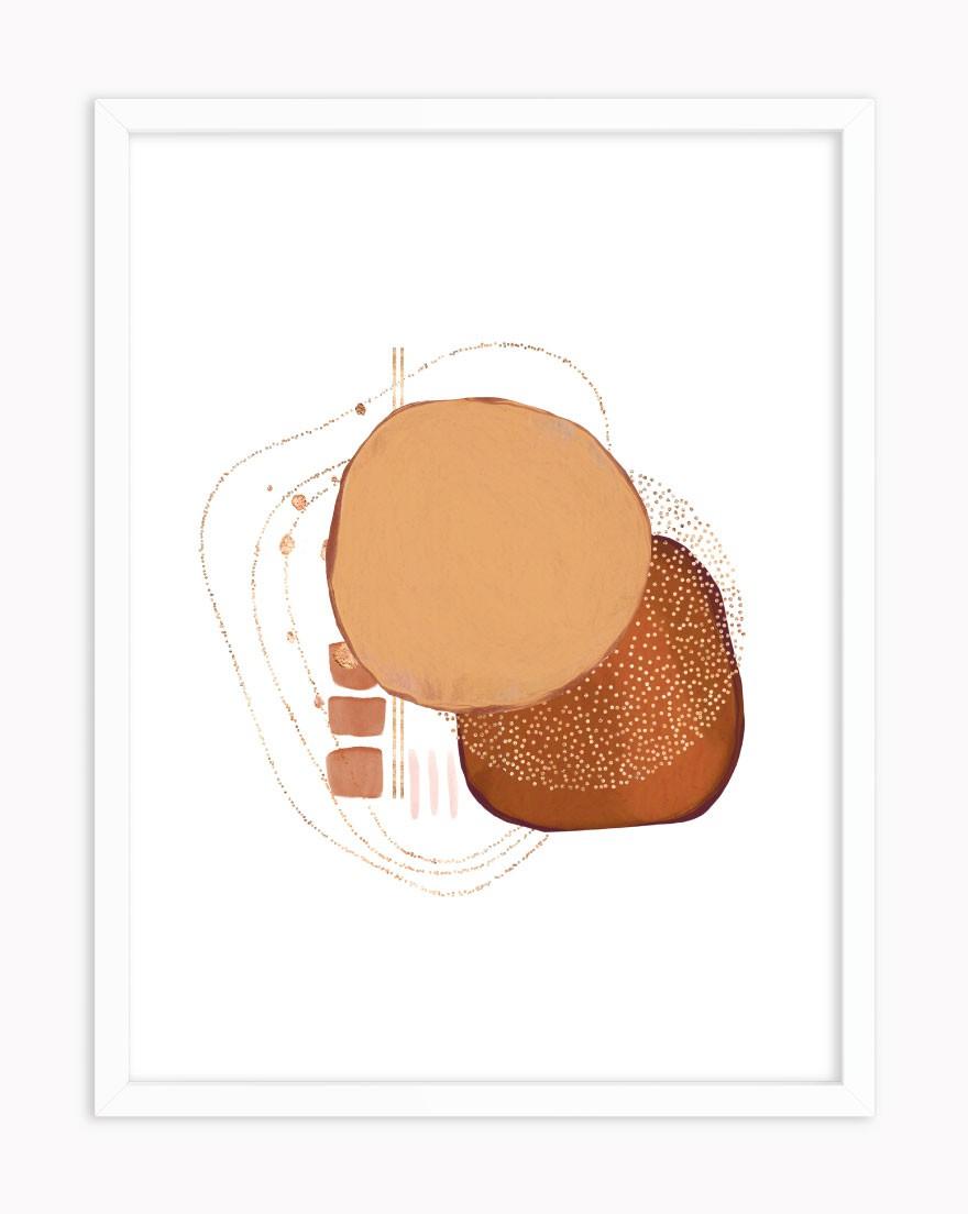 Quadro Abstract Orange
