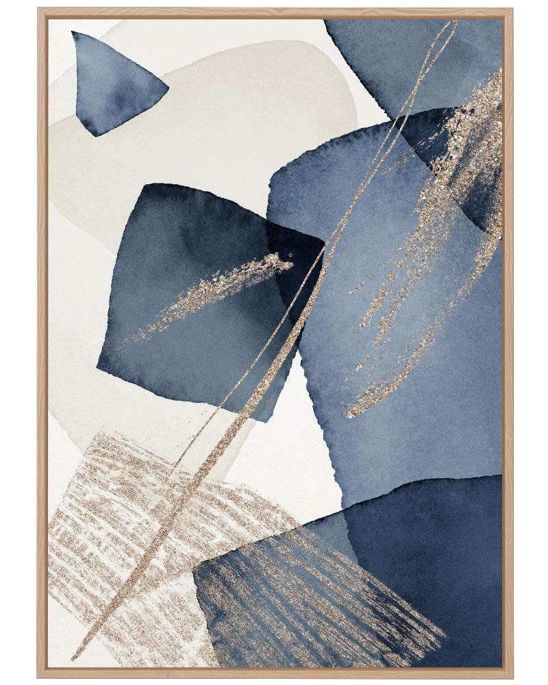 Quadro Abstrato Azul Bege I