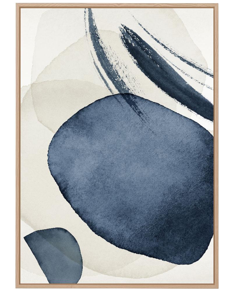 Quadro Abstrato Azul Bege II