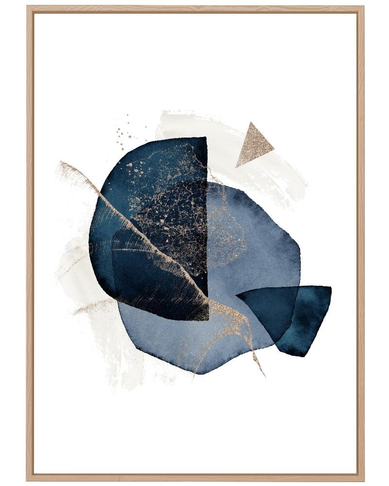 Quadro Abstrato Formas Azuis I