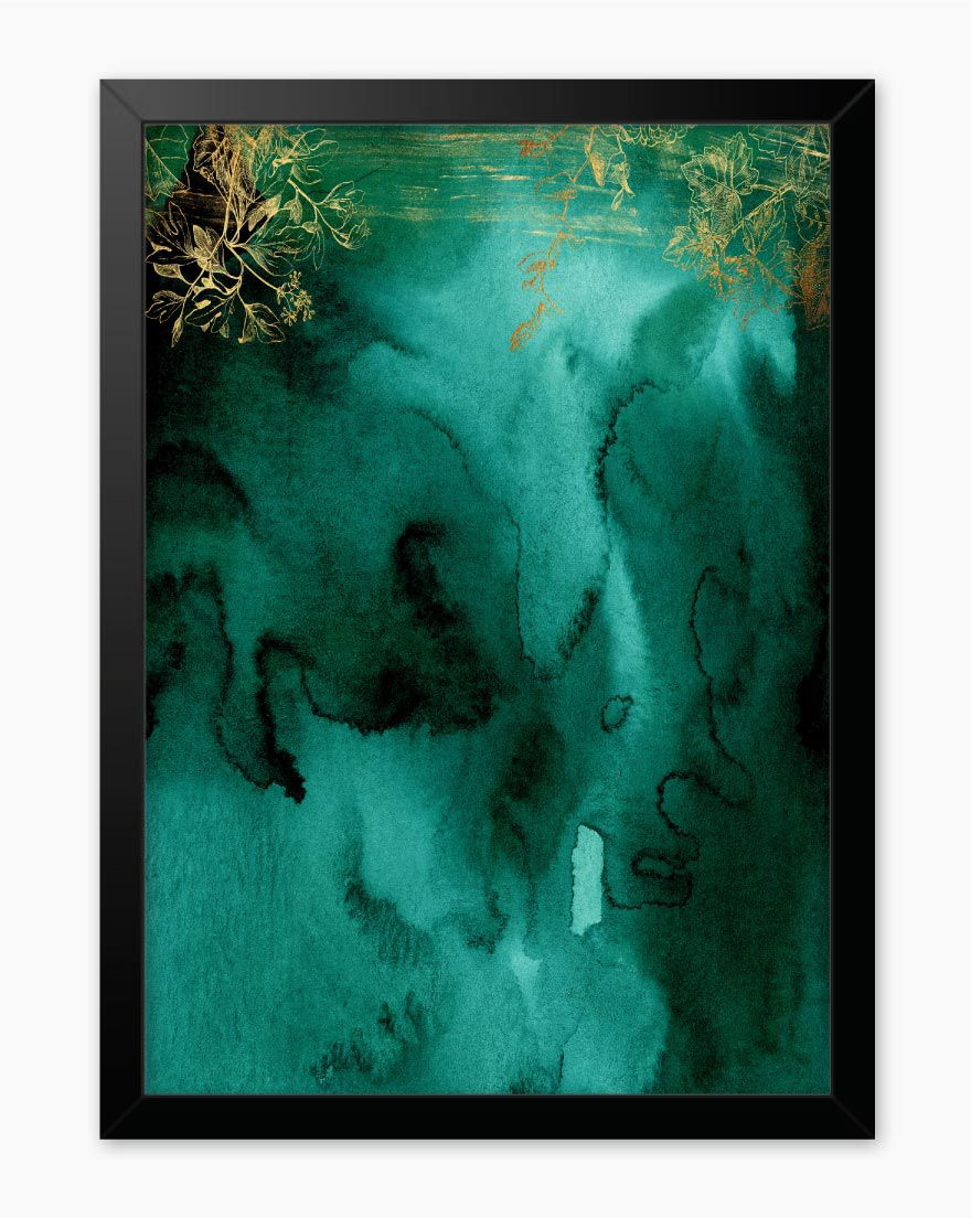 Quadro Abstrato Green