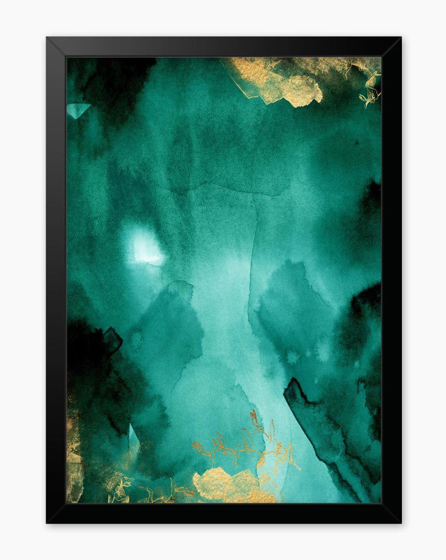 Quadro Abstrato Green Gold