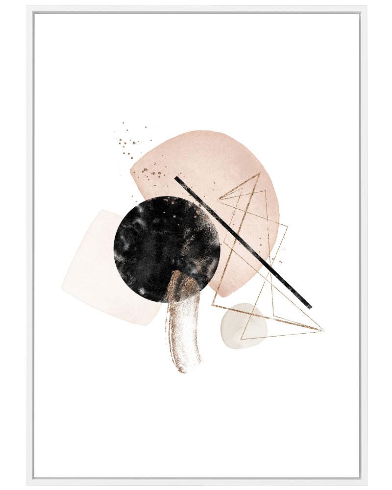 Quadro Abstrato Rose I