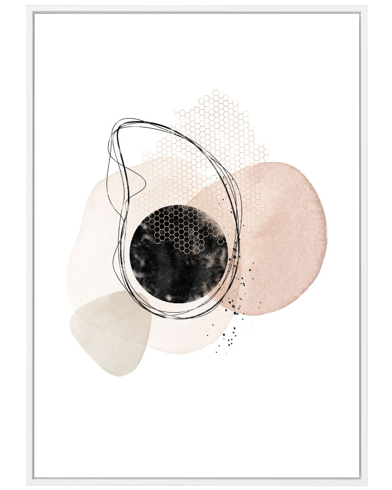 Quadro Abstrato Rose III