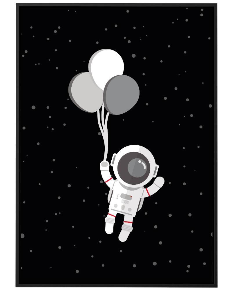 Quadro Astronauta Balão