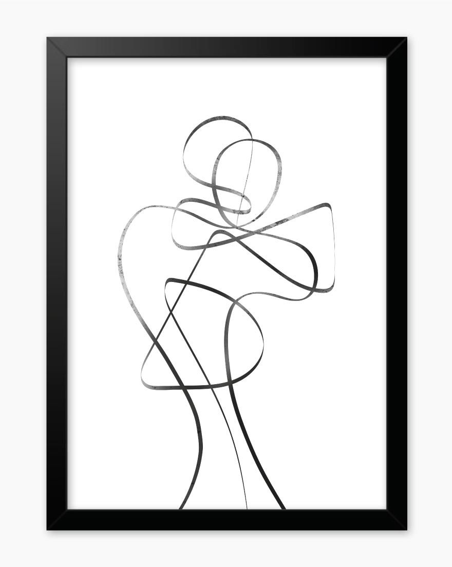 Quadro Black Lines Woman