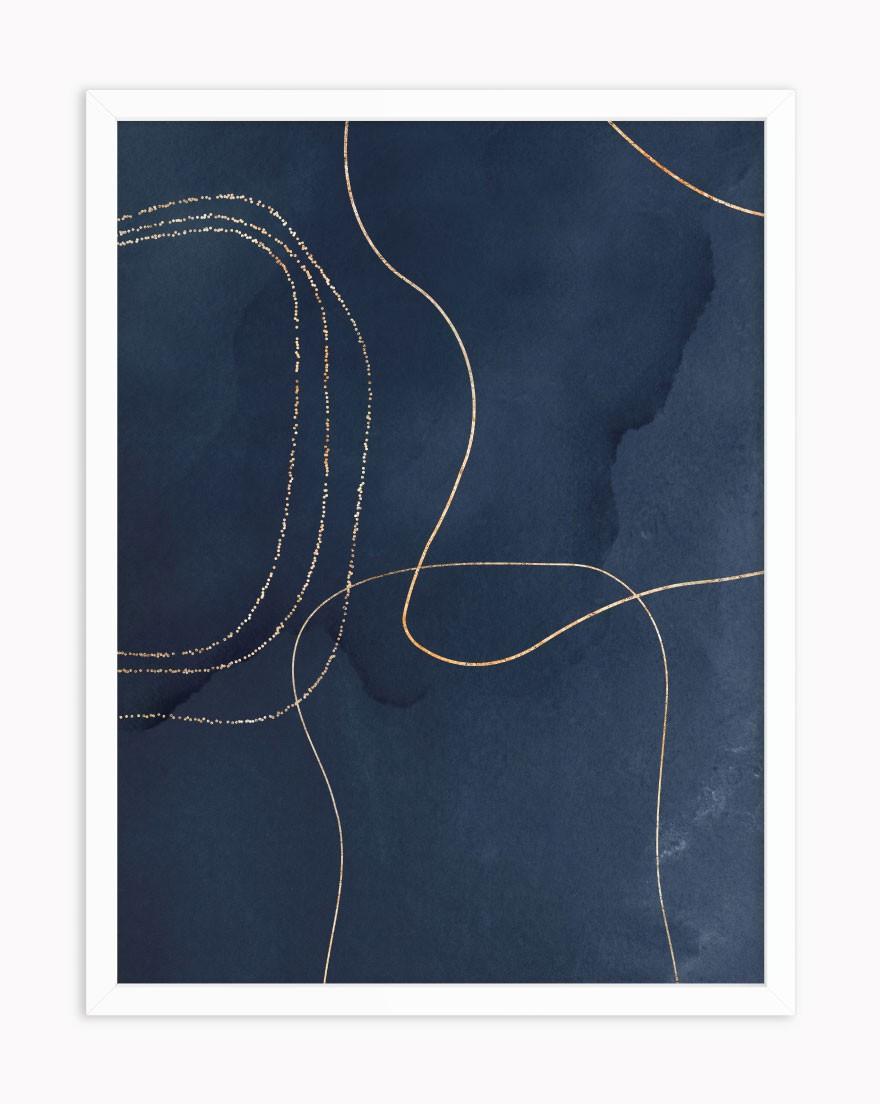 Quadro Blue Gold Lines