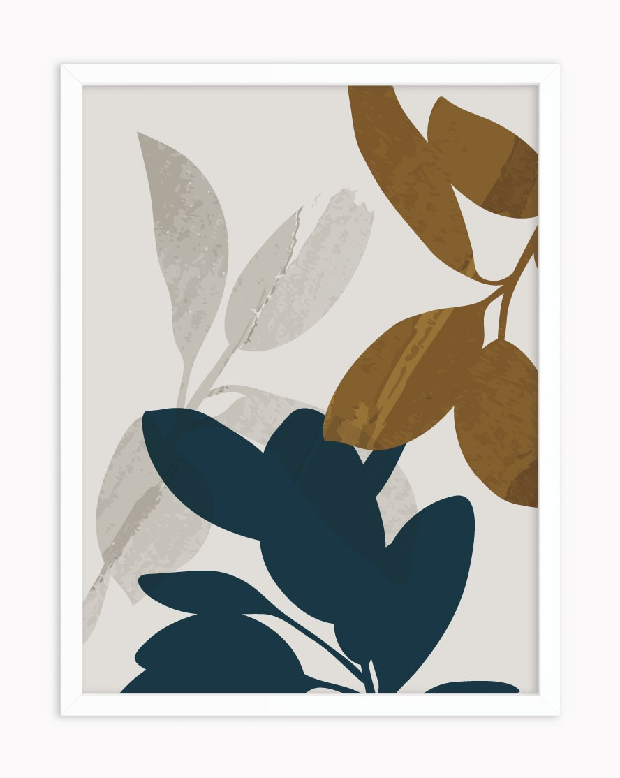 Quadro Blue Leaves
