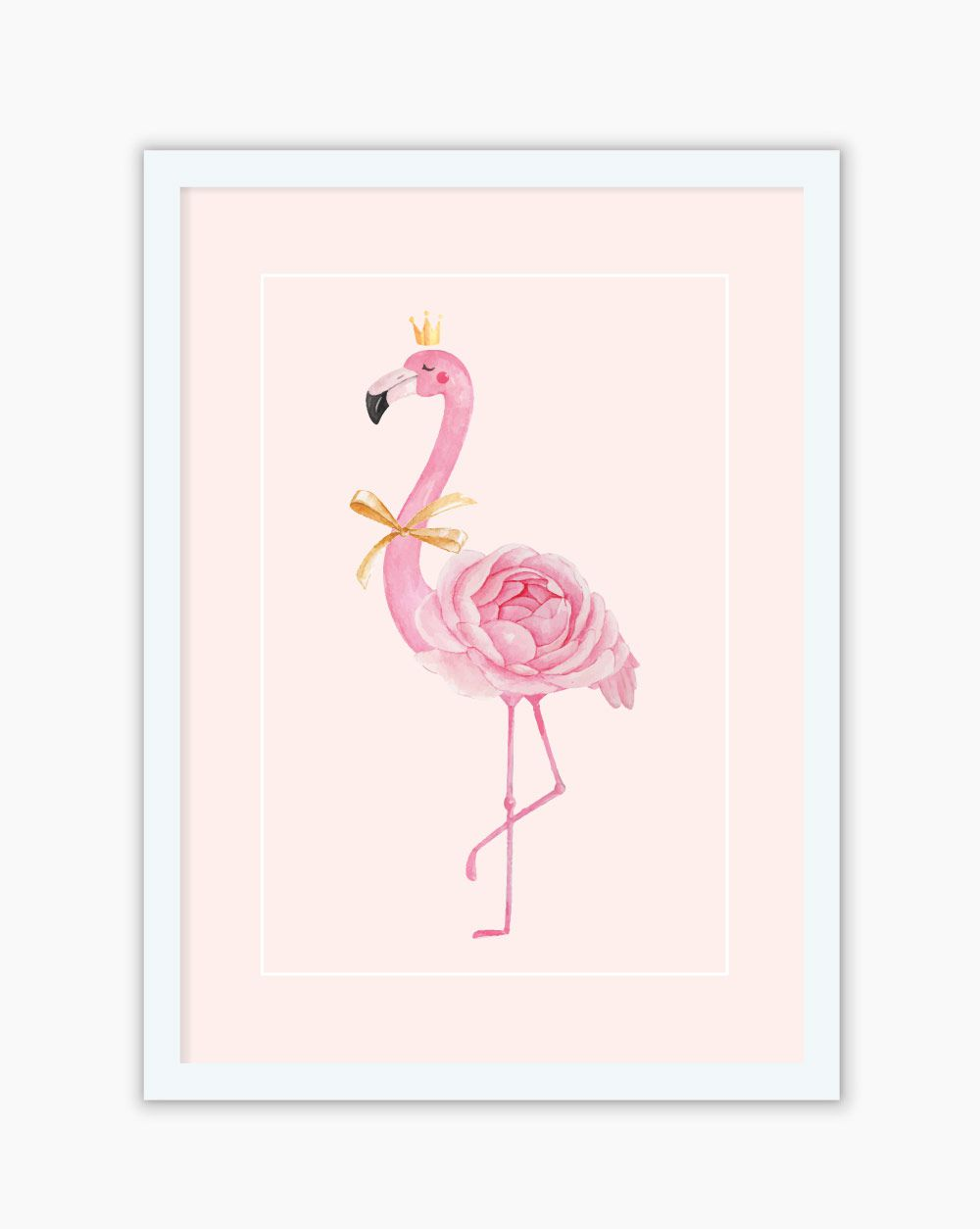 Quadro Blush Flamingo