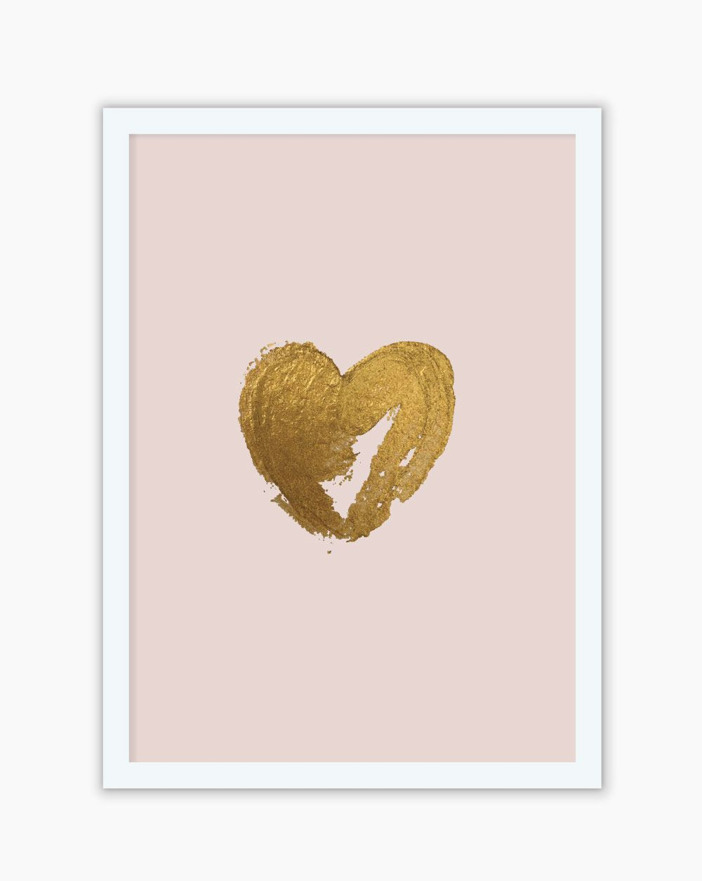 Quadro Blush Gold Heart