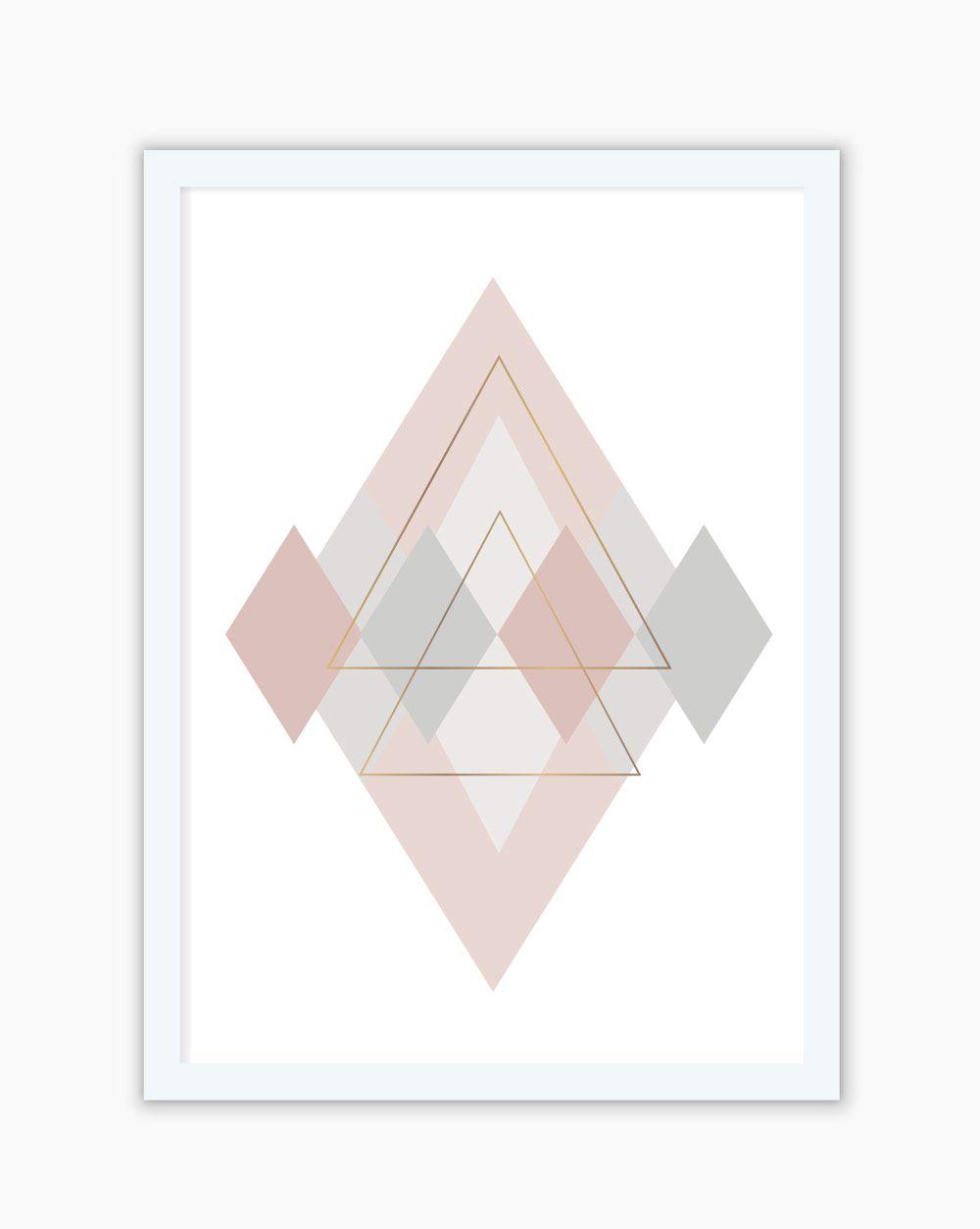 Quadro Blush Gray Geometric