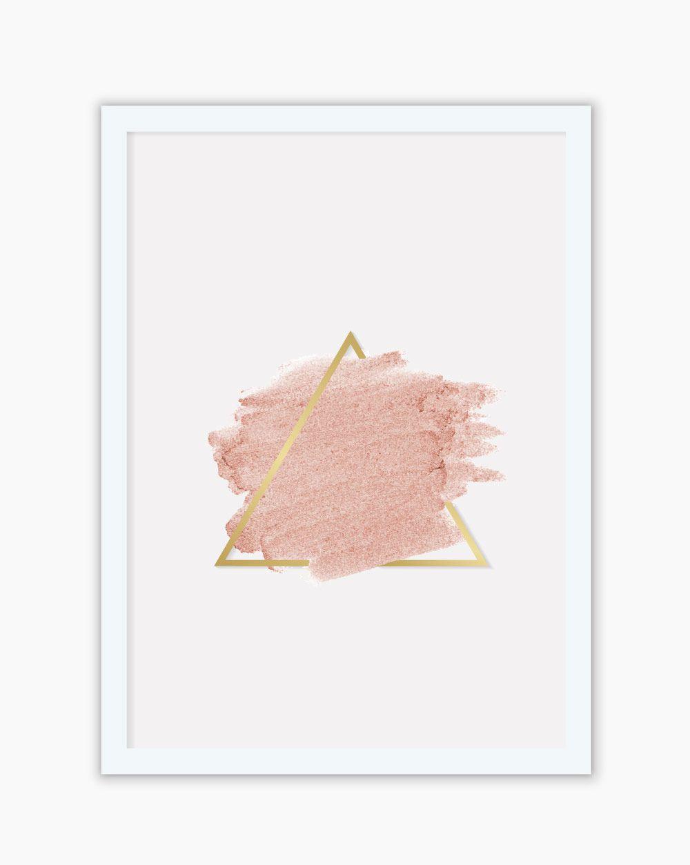 Quadro Blush Triangle