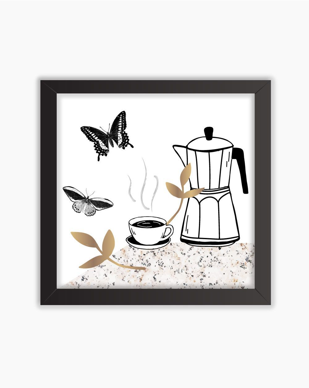 Quadro Butterfly Coffee