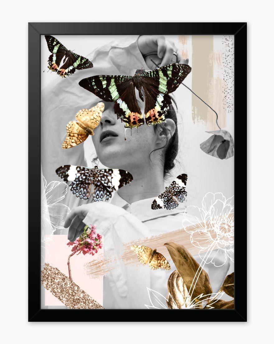 Quadro Butterfly Woman