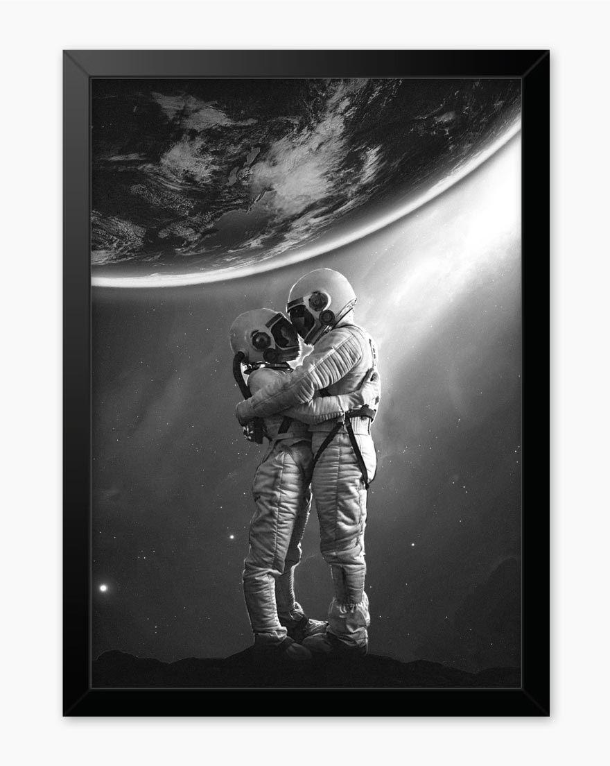 Quadro Casal Astronauta